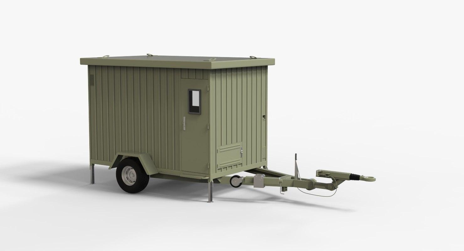 trailer shelter 3D model