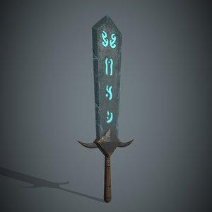 3D model fantasy sword