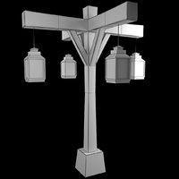 old street lamp 4 3D model