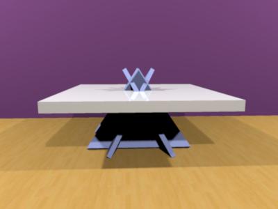 triangular table short 3D model