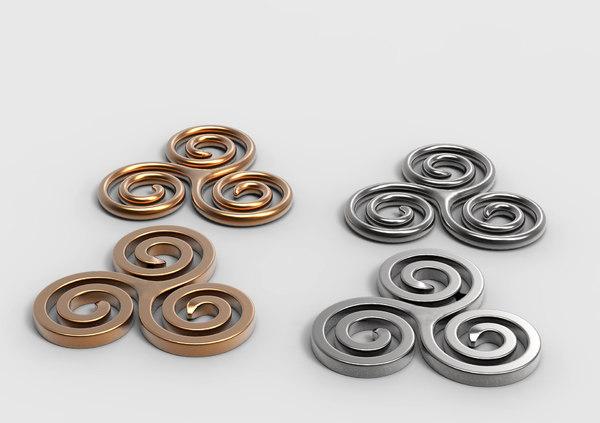 3D spiral design metal