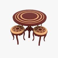 Designer Table Stool Set