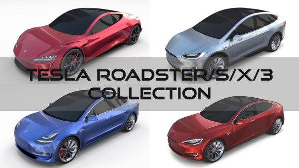 tesla roadster s x 3D