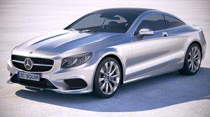 3D mercedes s-class coupe