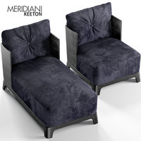 keeton armchair chaise longue 3D