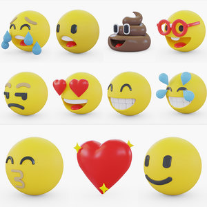 emoji 3D model