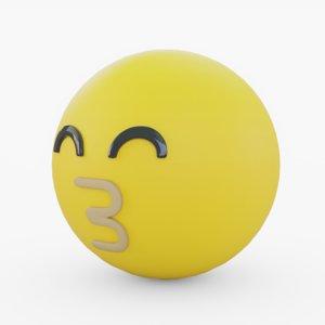 3D model emoji kiss