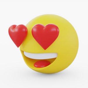 3D emoji love