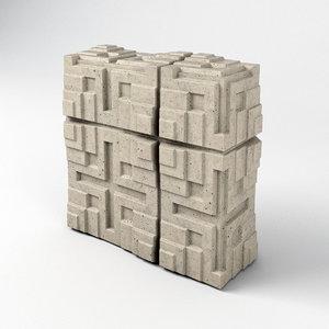 3D millard house tiles frank