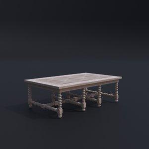 oka toulouse coffee table 3D model
