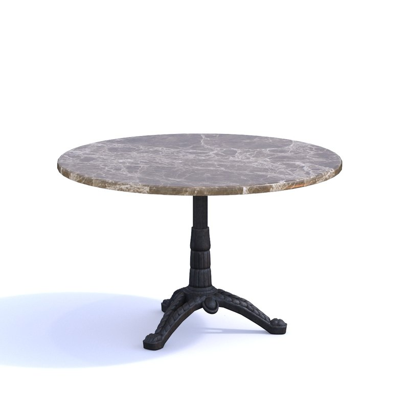 gastro marble bistro table 3D model