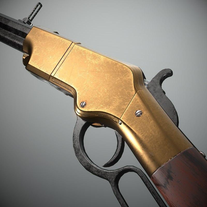 henry rifle 3D model