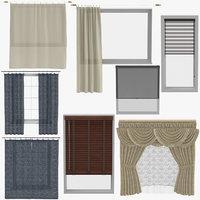 3D blinds curtains