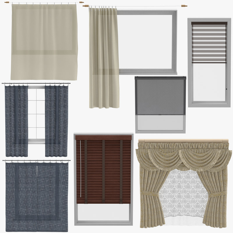 3D blinds curtains
