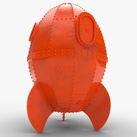 3D rocket s rocketship