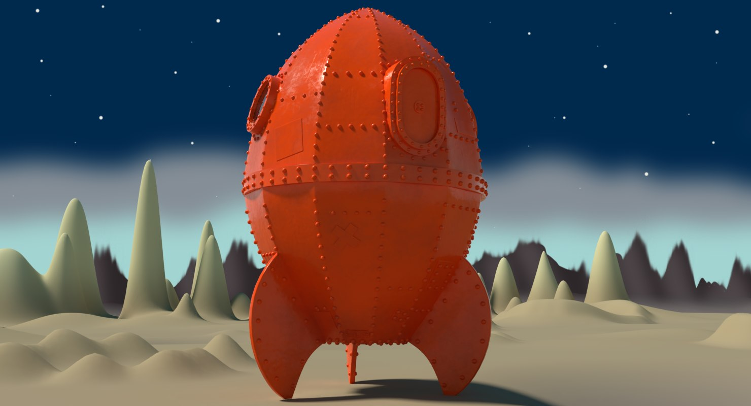 3D rocket s rocketship