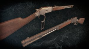3D wild winchester 1873 model