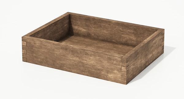 3D wooden box