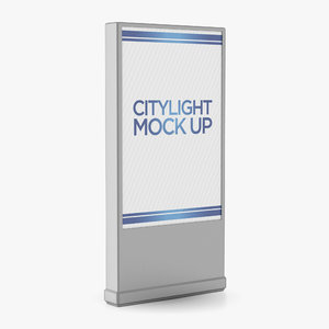 citylight advertising 3D model