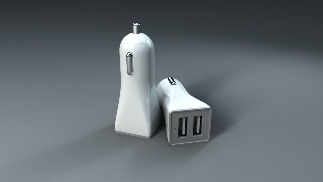 usb adapter car 3D model
