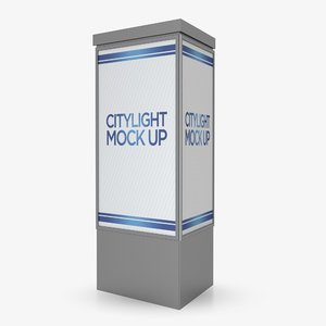 3D citylight advertising