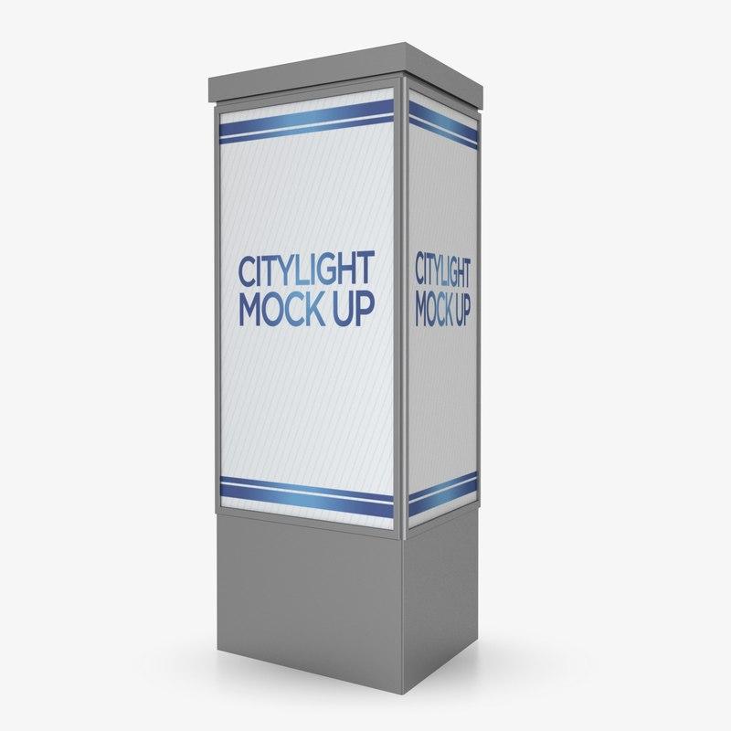 3D citylight advertising