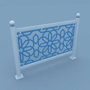 3D traditional moroccan street fence model