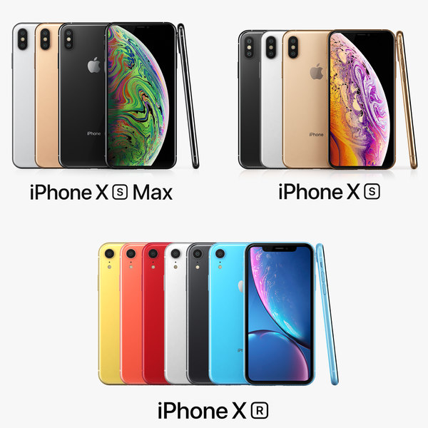 3D apple iphone xs xr