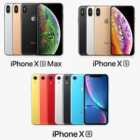 3D apple iphone xs xr