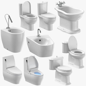 3D model toilets bidets