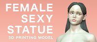 Female sexy statue 3D print model