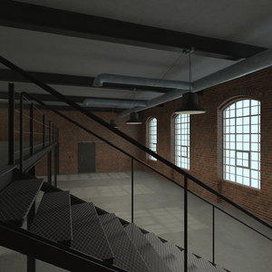 loft apartment industrial 3D model