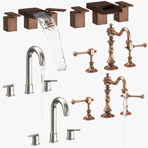 3D sink fixtures