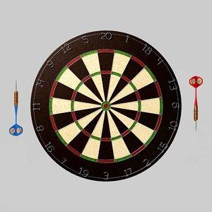 dartboard dart 3D model