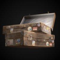 vintage suitcase 3D
