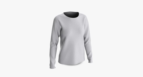 cotton female t-shirts long 3D model