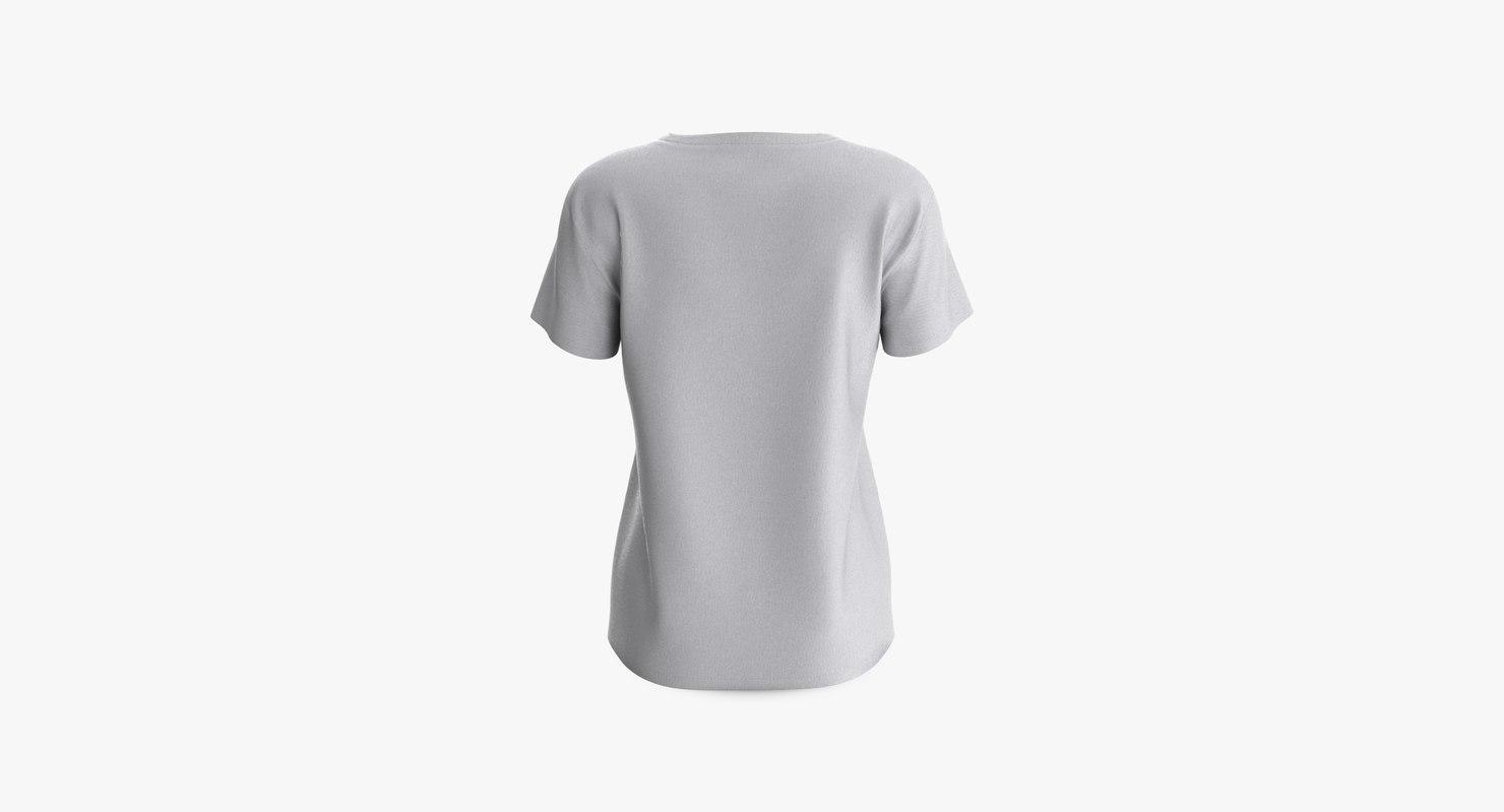 3D cotton female t-shirts short