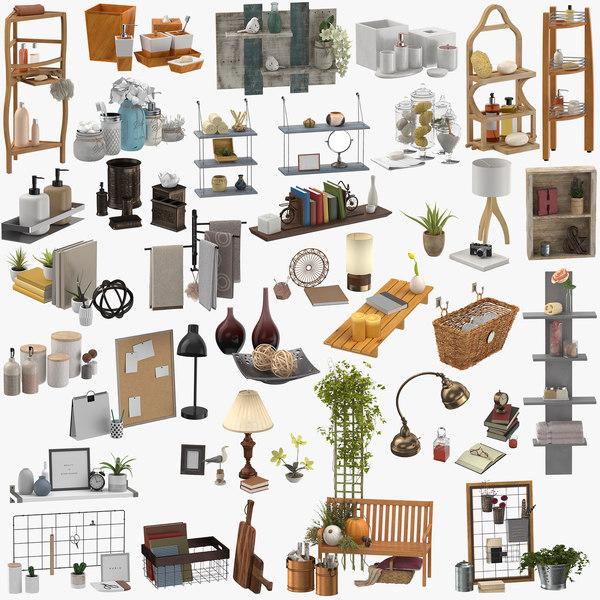 3D decor sets model