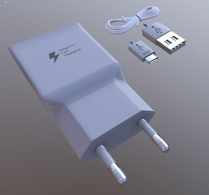 3D charger usb microusb