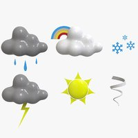 3D weather icons