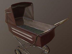 old baby carrige detached model