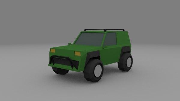 3D offroad car