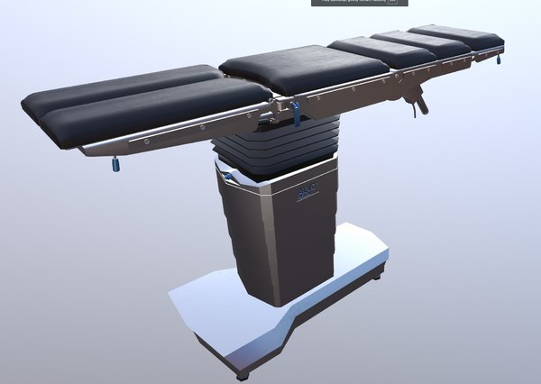 surgery bed medical gameready 3D