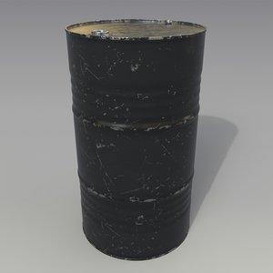 barrel oil black 3D model