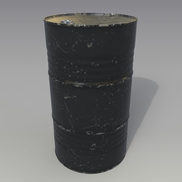 barrel oil black 3D model