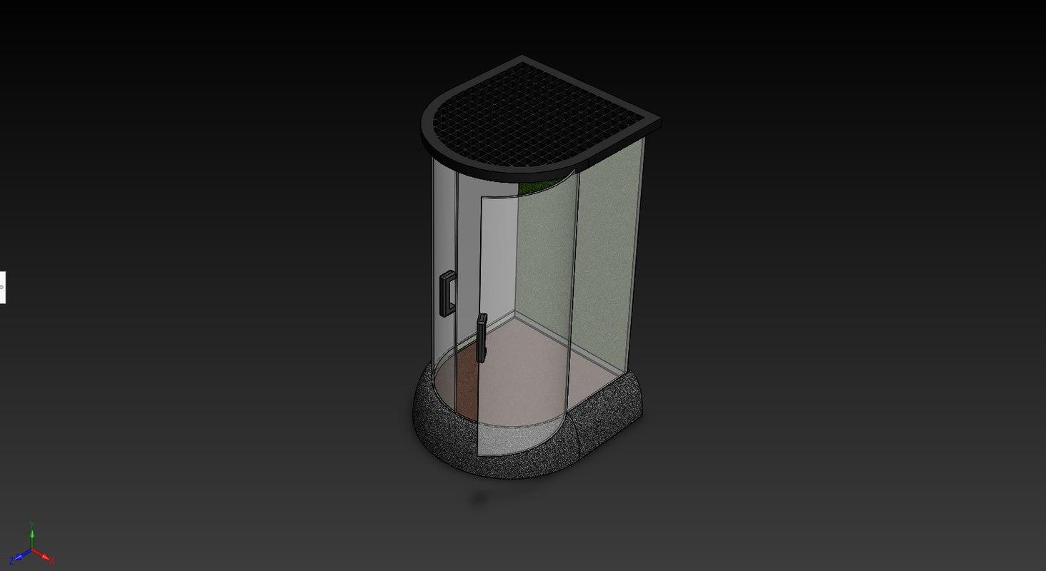 3D model chameleon cage