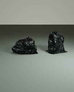 3D trash bags octane render