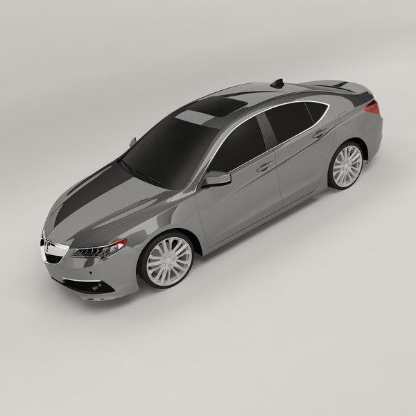 3D acura tlx