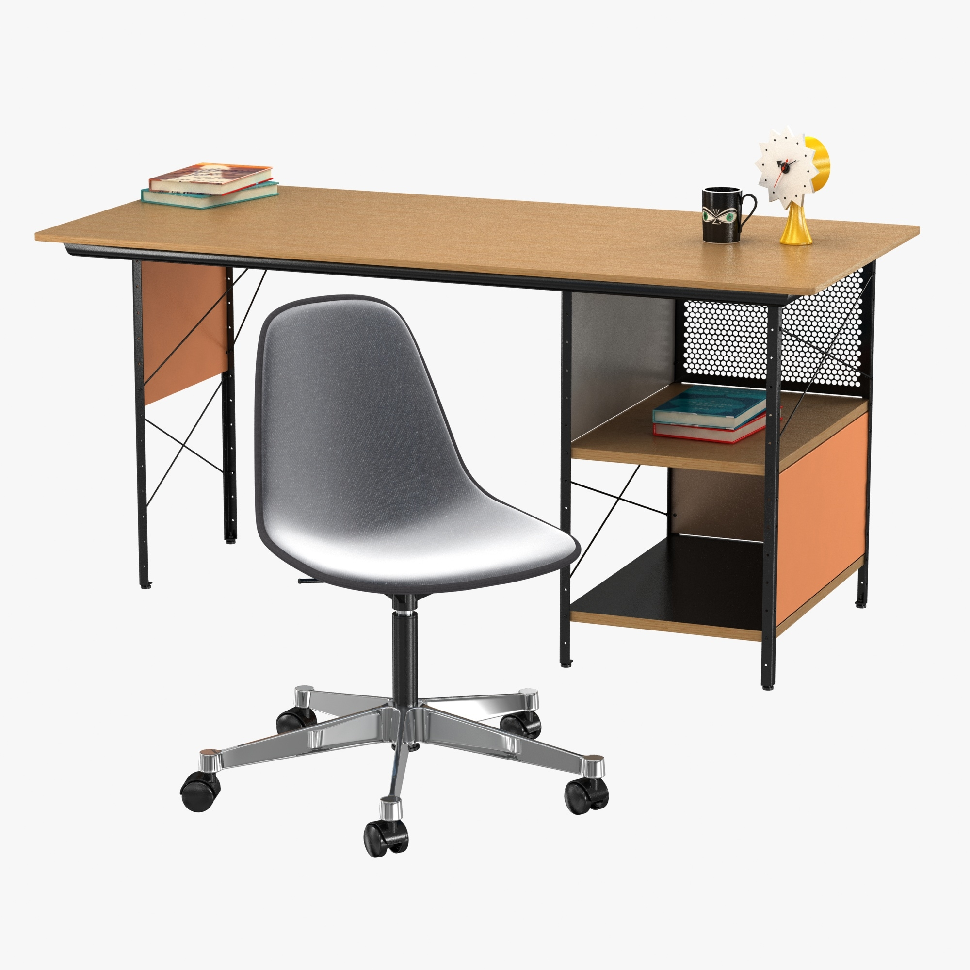 Admirable Vitra Eames Plastic Chair And Edu Desk Unit Forskolin Free Trial Chair Design Images Forskolin Free Trialorg