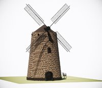 3D model windmill